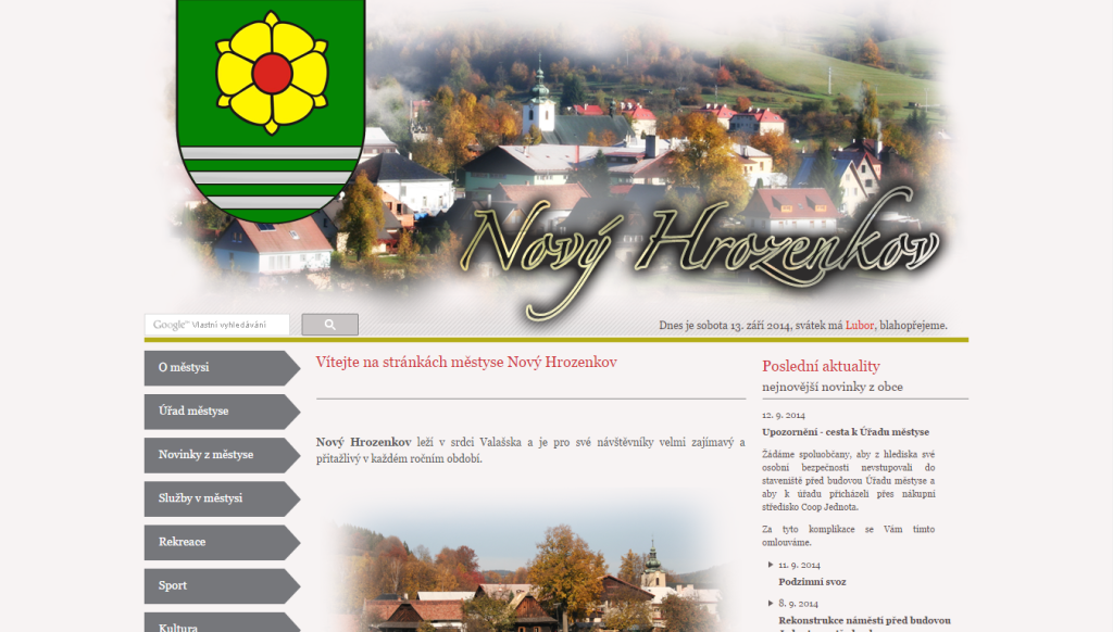 Web Nového Hrozenkova