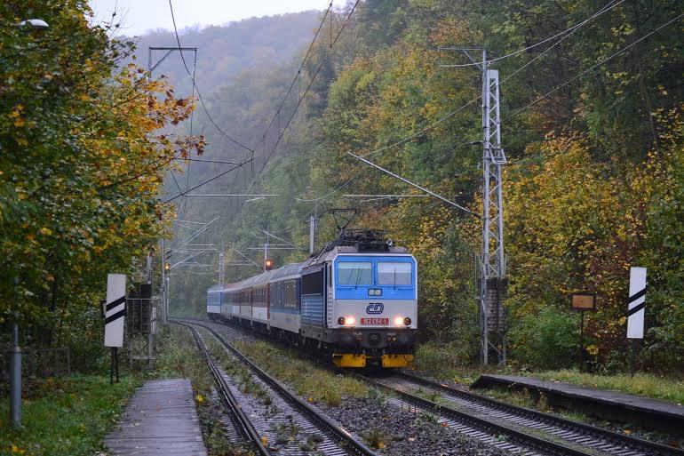 EC 121 Hradčany, Teplice nad Bečvou, 23.10.2014. Zdroj: Facebook, autor: Zdeněk Sklenařík